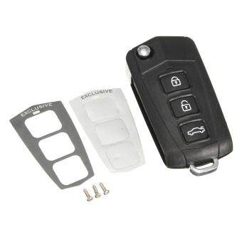 Harga 3 Buttons+Panic Remote Flip Key Case Fob Shell For HYUNDAI Sonata Genesis Coupe