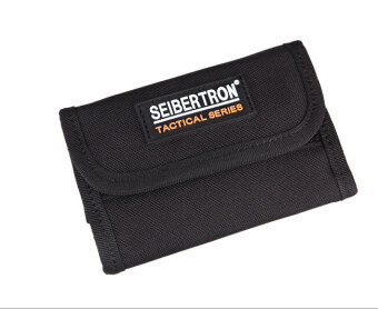 Harga Seibertron Tactical Men's Pocket Money Purse Spartan Wallet Gear Travel Wallet Black