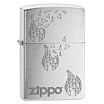 Harga Zippo 29444 USA Windproof Lighter- Brushed Chrome Zippo Cubism (Silver)