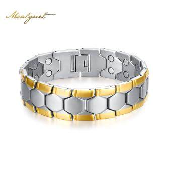 Harga Magnetic Health Bracelets &Bangles for Men Football Design Bracelet 21cm Healthy Energy Bracelets for Male