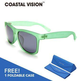 Harga COASTAL VISION Polarized Men Green sunglasses Rectangle anti UVA/B Mirror lenses CVS5203