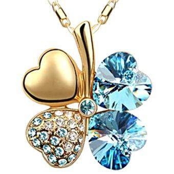 Harga LOVENGIFTS Swarovski Lucky Pendant Necklace 18K Gold