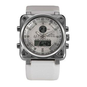 Harga ASJ Men's W1008MF8803 Analogue Digital Military Army Silicone Sport White Dial Watches