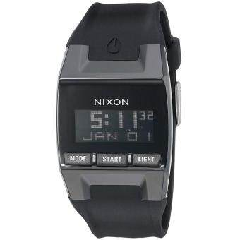 Harga Nixon Watch Comp Black Plastic Case Silicone Strap Mens NWT + Warranty A408000