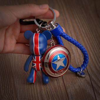Harga Violence Bear Key Chain Avenger Superman Batman Key Chain Car Key Pendant Woven Rope Key Ring