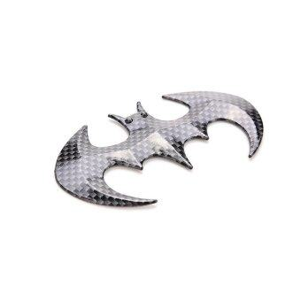 Harga Buytra 3D Bat Shaped Car Sticker carbon fiber Black