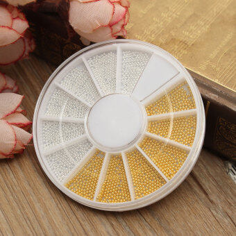 Harga 1200PCS Gold Silver Caviar Nails Nail Art Painting Nail Decor Decal Tiny Beads Color Gold And Silver