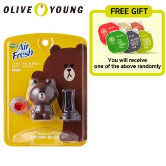 Harga Home 'Z Air fresh LINE FRIENDS for Auto (Brown)