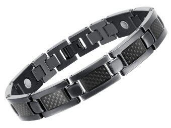 Harga New Health Care Energy Magnetic Titanium Bracelet For Men, Black