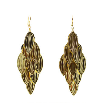 Harga ONLY 24K Golden Leaf Earrings
