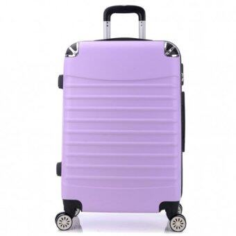 Harga Double Zippered Expandable/Extendable Hardside Spinner Travel Luggage Bag/ Suitcase (Purple)