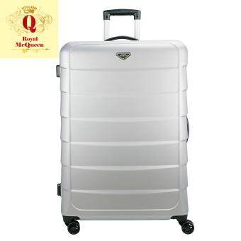 Harga Royal McQueen Double Wheels Spinner 24 inch Hard Case Luggage – QTH 6909 SILVER