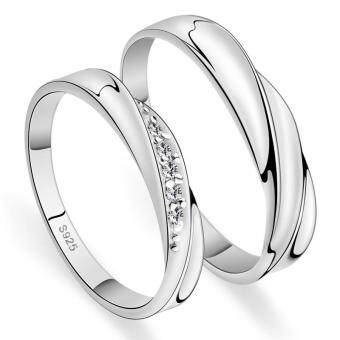 Harga Couple Rings Jewellry 925 Silver Adjustable Lovers Ring Jewelry E004