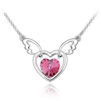 Harga LOVENGIFTS Swarovski Lovey Dovey Pendant Necklace (Pink)