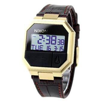 Harga Nixon Watch Re-Run Brown Stainless-Steel Case Leather Strap Mens NWT + Warranty A944849