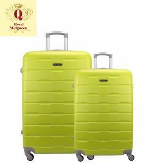 Harga Royal McQueen Hard Case 4 Wheels Spinner Light Weight (20+24) Luggage – QTH 6910 (GREEN)