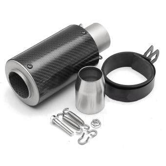 Harga 38-51mm Universal Motorcycle Cylinder Exhaust Muffler Pipe Carbon Fiber