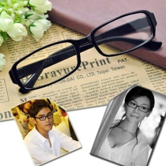 Harga Jo.In Black Frame DJ Clear Lens Nerd Skater Polite Glasses (Black)