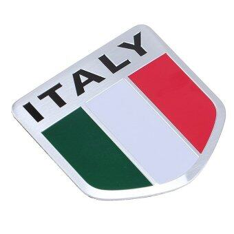 Harga Italy Flag DIY Aluminum Emblem Sticker Decal For Car Motorcycle Bike