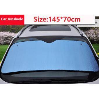 Harga Foldable Large Auto Car Sun Shade For Front Wind Shield Rear Window(Blue color)