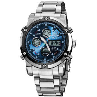 Harga ASJ B110 Stainless Steel Case and Strap Digital LED Wrist Quartz Watch