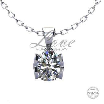 Harga Love For Jewelry Caring Heart Pendant LJP014 Crystal From Swarovski (18k White Gold Plated)