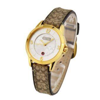 Harga Coach Women's brown Leather Strap Watch 14501253