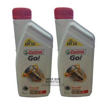 Harga Castrol Go 4T 20W-40 (2 X 1 Litre)-Motorcycle