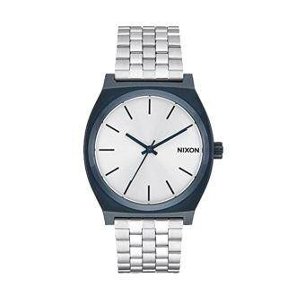 Harga Nixon Watch Time Teller Silver Stainless-Steel Case Stainless-Steel Bracelet Mens NWT + Warranty A0451849