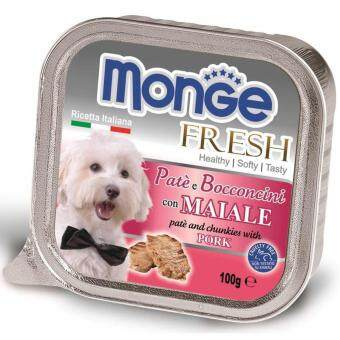 Harga Monge Fresh Pork 100g 32 packs free 4