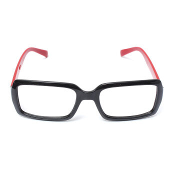 Harga Children Kids Girls Unisex Nerd Geek Eyeglasses Frame Eyewear Without Lenses Brilliant Black-Red