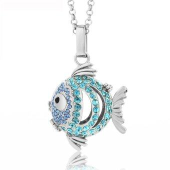 Harga Lava Stone Diffuser necklace -Fish 448