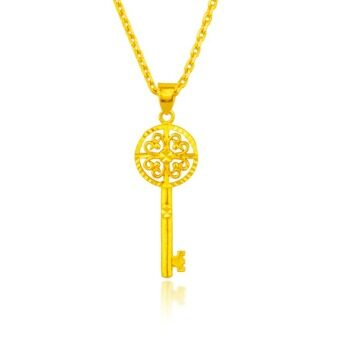 Harga ONLY 24K Golden The Beauty Of The Golden Key Necklace