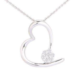Harga Lazo Diamond Heart Shape White Gold Diamond Pendant