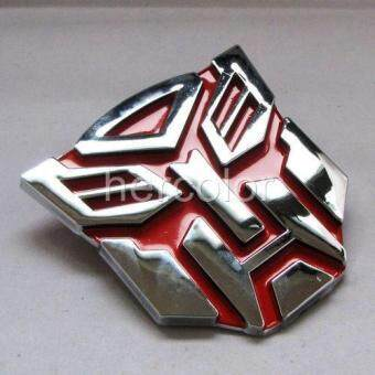 Harga Fashionable TRANSFORMERs autobots Car Truck Badge Sticker Red
