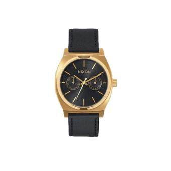 Harga Nixon Watch Time Teller Deluxe Black Stainless-Steel Case Leather Strap Mens NWT + Warranty A9271604