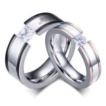 Harga New My Love Wedding Ring Classic Engagement Women AAA CZ Couple Rings For Women Men Jewelry