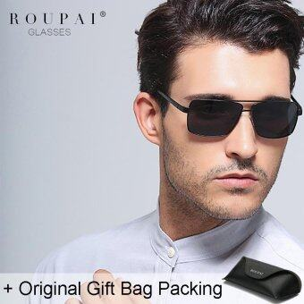 Harga Loveu Men Sunglasses Best Gifts Polarized Glasses Classic Aviator Sunglasses Men Eyeglasses Sun Protection UV400 with Leather Gift Bag