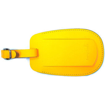 Harga Barry Smith Leather Luggage Tag (Yellow)