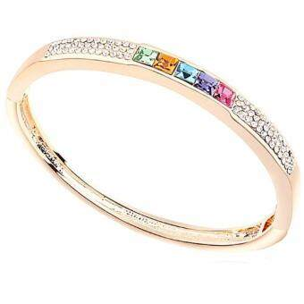 Harga LOVENGIFTS Swarovski Glitter Rainbow Bangle