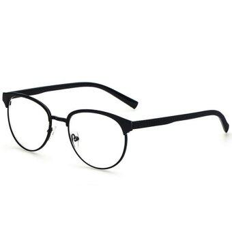 Harga Multi Color Lightweight Metal Frame Nerd Optical Eyeglasses Spectacle Frame H2009-03 (Black)