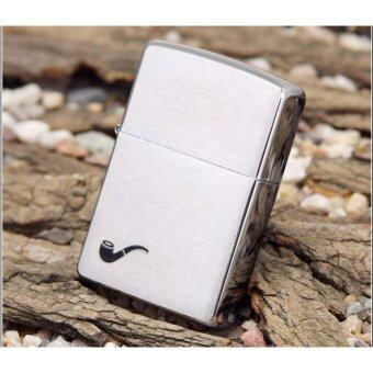 Harga ZIPPO 200PL Brushed Chrome Pipe Windproof Lighter (USA)