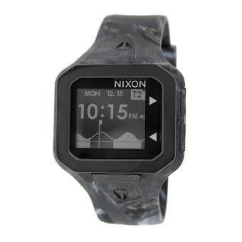 Harga Nixon Watch Supertide Black Resin Case Silicone Strap Mens NWT + Warranty A3161611