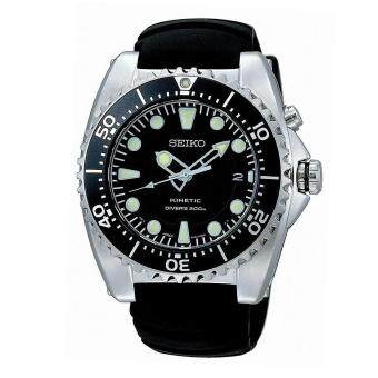 Harga Seiko Watch KINETIC Black Stainless-Steel Case Rubber Strap Mens NWT + Warranty SKA371P2