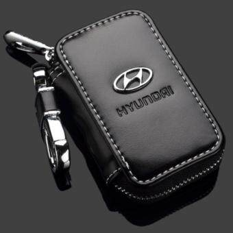 Harga Hyundai Car Key Pouch / Key Chain / Key Holder Genuine Leather (Type D)