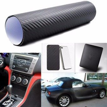Harga 3D Carbon Fiber Fibre Vinyl Car Sticker Wrap Film Sheet Roll Phone Laptop Decal