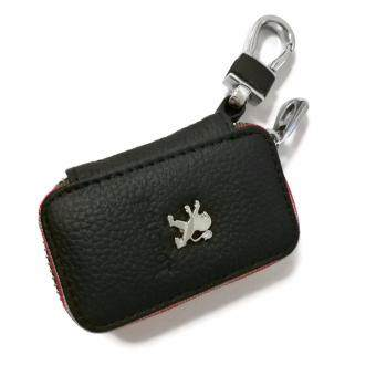 Harga Peugeot Car Key Pouch / Key Chain / Key Holder Genuine Leather (Type C)