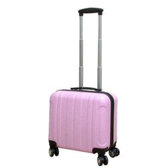 Harga Double Zippered Expandable/Extendable ABS Trunk Spinner Travel Luggage Bag/ Suitcase (Pink)