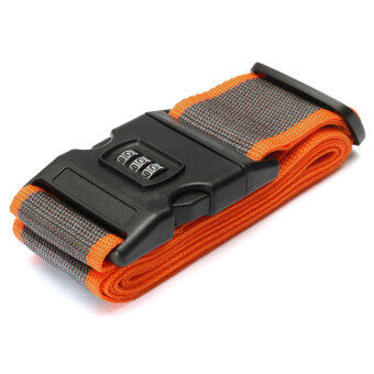 Harga Adjustable Luggage Suitcase Straps Travel Baggage Packing Buckle Tie Belt Lock Orange And Gray