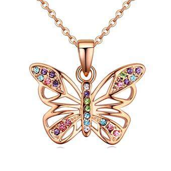 Harga LOVENGIFTS Swarovski Vintage Butterfly Pendant Necklace